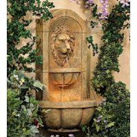 """Lion Head Faux Stone 29 1/2"""" High Wall Fountain   Faux ..."""
