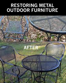 Rusty Outdoor Metal Furniture And Restore