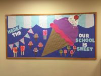 Ice cream bulletin board