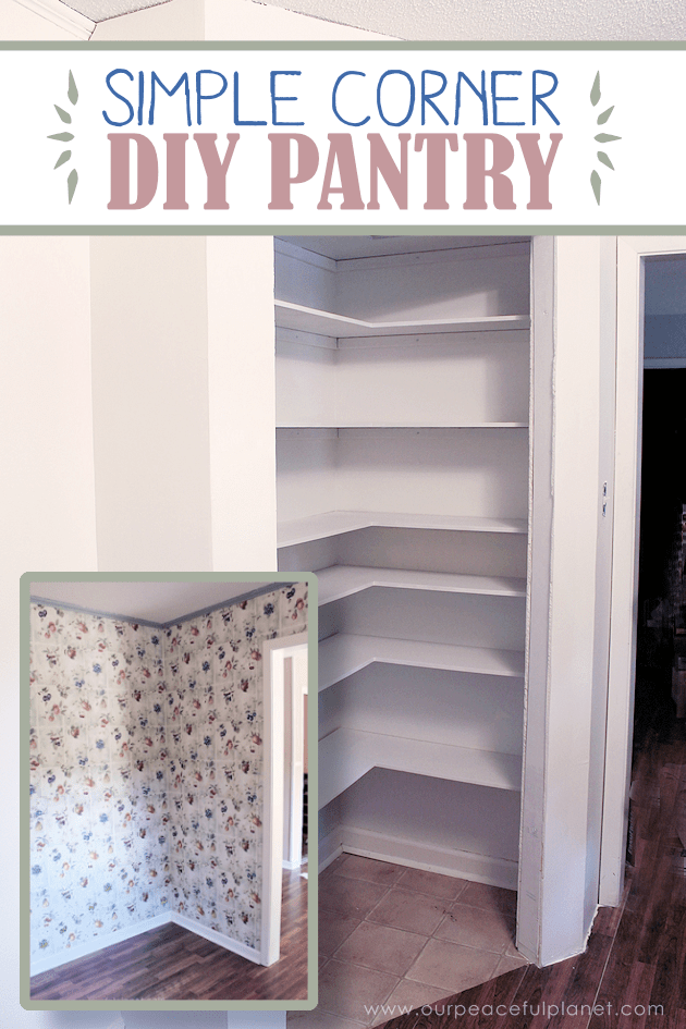 Add Space  Convenience with a Simple DIY Pantry