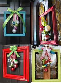 Elegant and unusual door decorations made from picture ...