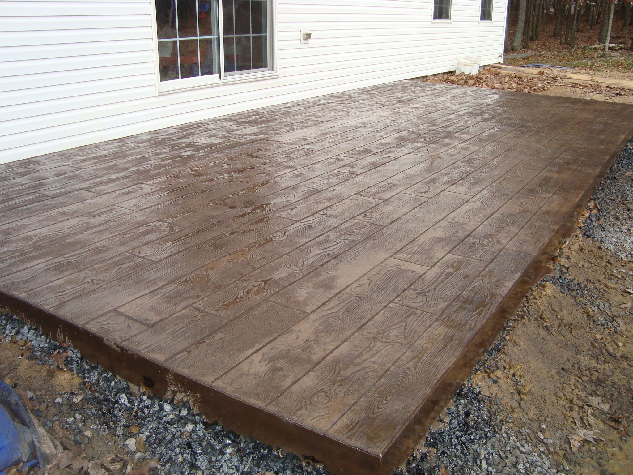 Concrete Stamped Stone Patio