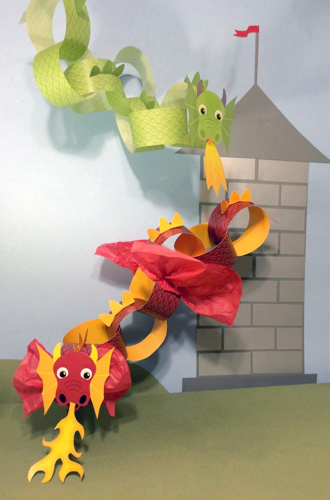 This Fun Easy D I Y Dragon Craft For Kids Or Dragon