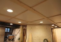 Diy bead board ceiling in the basement | D.I.Y ...