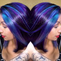 Purple joico hair colorful color hair color bright hair ...
