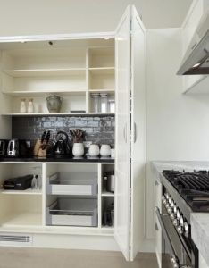 What  great way to expand kitchen bench space as well quickly hiding any mess also rh pinterest