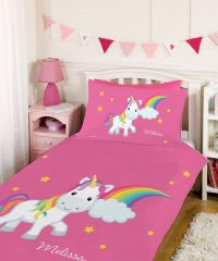 Rainbow Unicorn Personalized Duvet Set