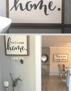 Welcome home wood sign entryway living room decor farmhouse also rh pinterest