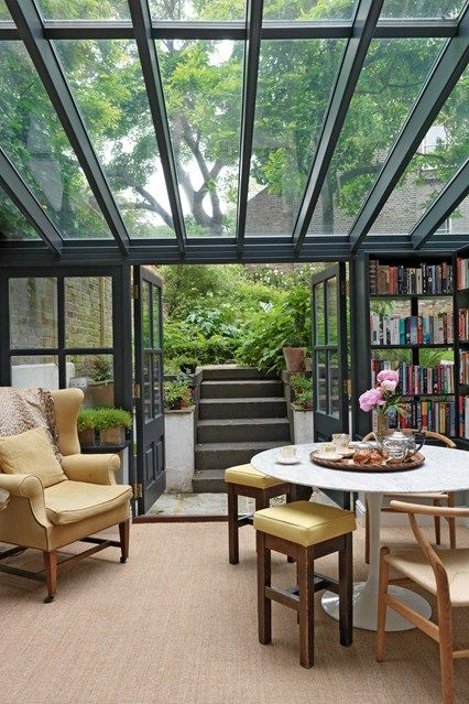Look Into My Library Sunroom Conservatory Design And Interiors