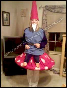 Coolest Homemade Yard Gnome On A Toadstool Costume Gardens