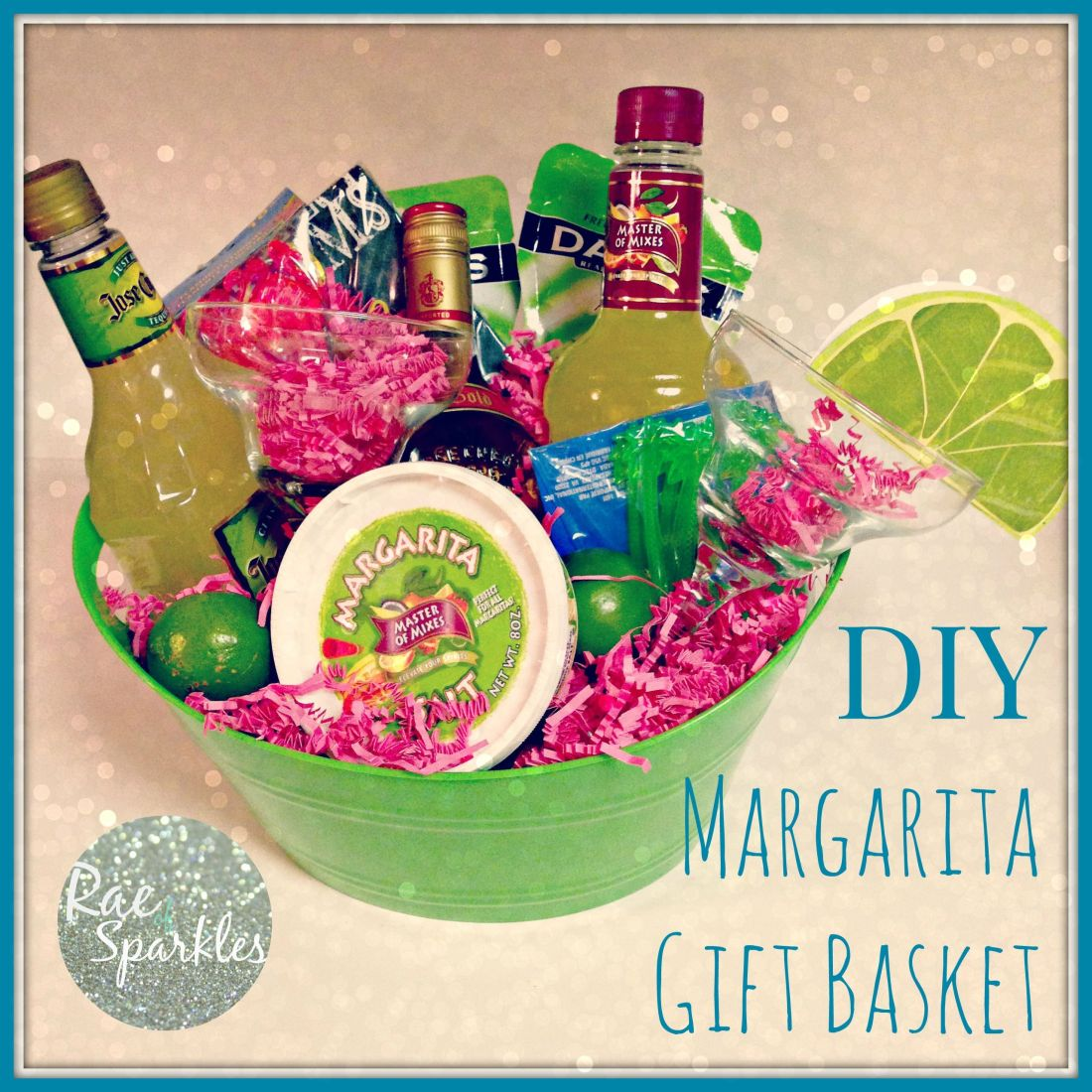 Diy margarita gift basket perfect gift for a friend who