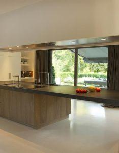 Cuisine ouverte et ilot central bois also interior design pinterest rh