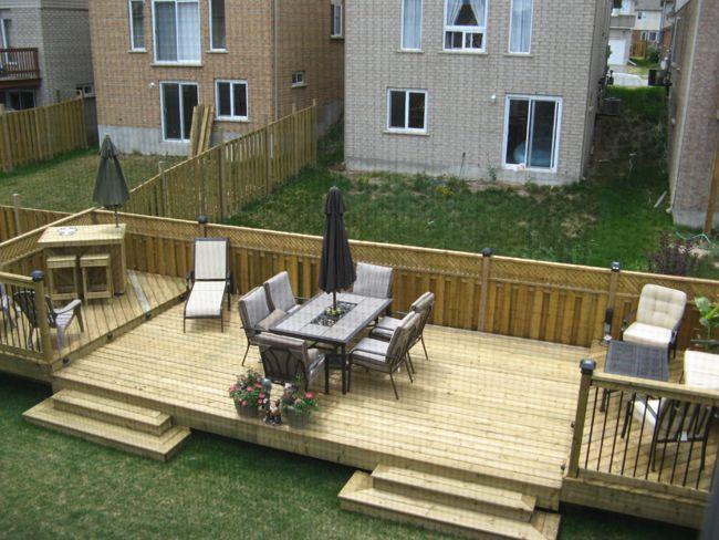 Flat Decks And Small Back Yard