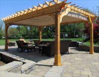 Picturesque Cedar Wood Patio Cover for Square Pergola ...