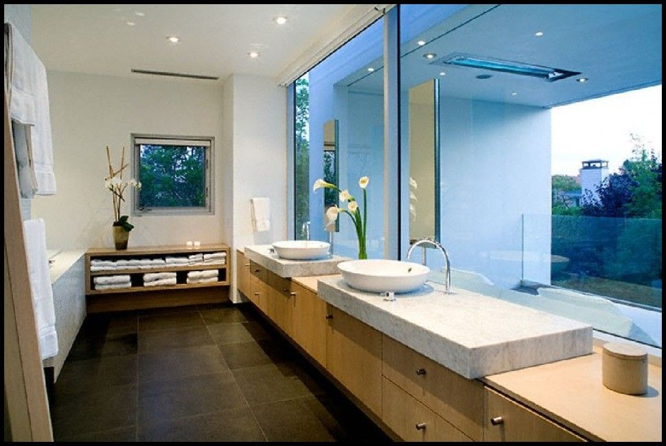 Bathroom Awesome Bathroom View In Soft Rectangular Shape House