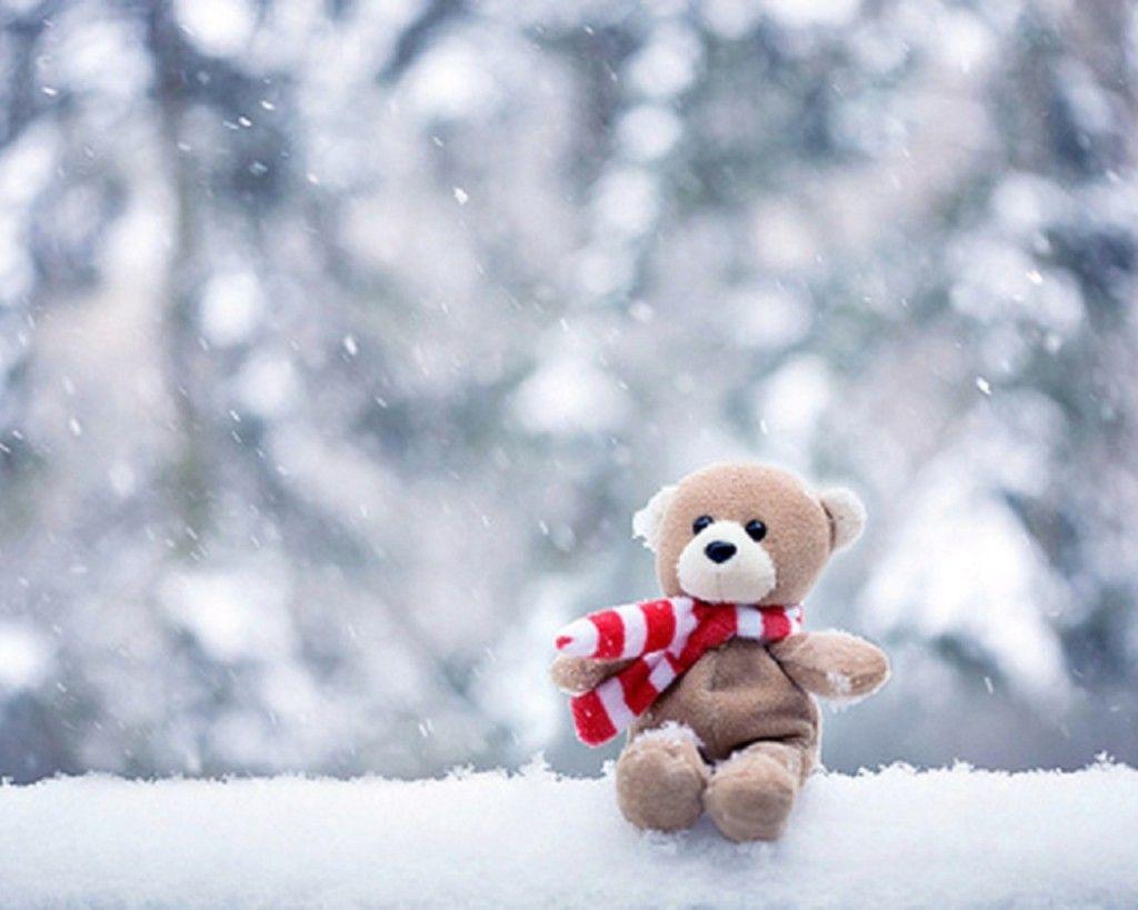 snow falling pinterest    teddy bear hd wallpaper desktop hd