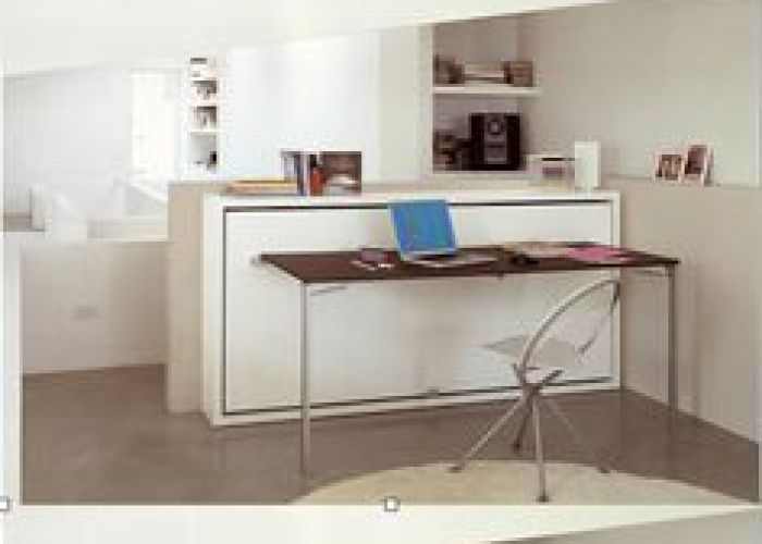 The poppi desk is  space saving modern  cmurphy bed   that features fold also