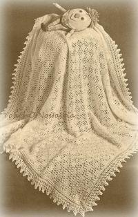Vntg Lacy Baby SHAWL / Blanket Knitting by ...