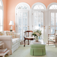 Peach paint color for gracious living room | Living Rooms ...