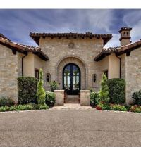 Tuscan style entry, a lot of stone! (Not a Lennar home ...