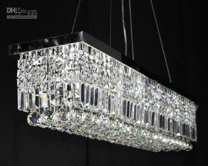 100cm Modern Contemporary Crystal Pendant Light Ceiling Lamp Chandelier Lighting