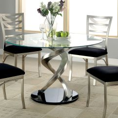 Round Glass Kitchen Tables Inexpensive Island Bring Modern Sculpture Designs To The Dining Room With