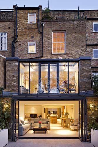 London Glass Kitchen Extension House Lookbook Pinterest