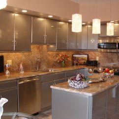 Small Kitchen Lighting Storage Great Drum Shade Over Grey