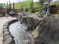 waterfall backyard | ... resort style backyard water ...