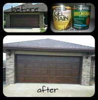 Our garage door makeover! Took our plain metal garage door ...