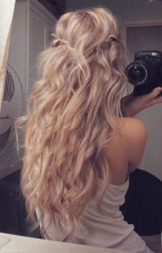 curly dirty blonde hair