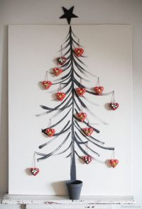 Eco- friendly and artistic Christmas tree with handmade ...