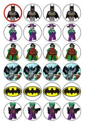 24 Lego Batman Cupcake Toppers | party ideas | Pinterest ...