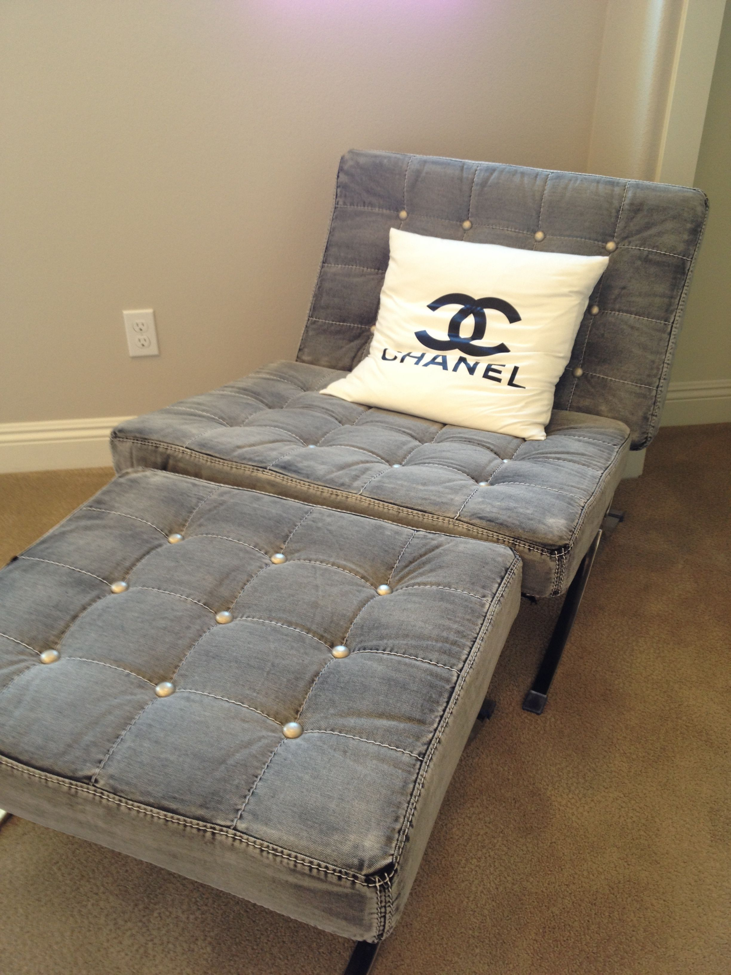 Fashion Inspired Home Decor Chanel Inspired Denim Chair With