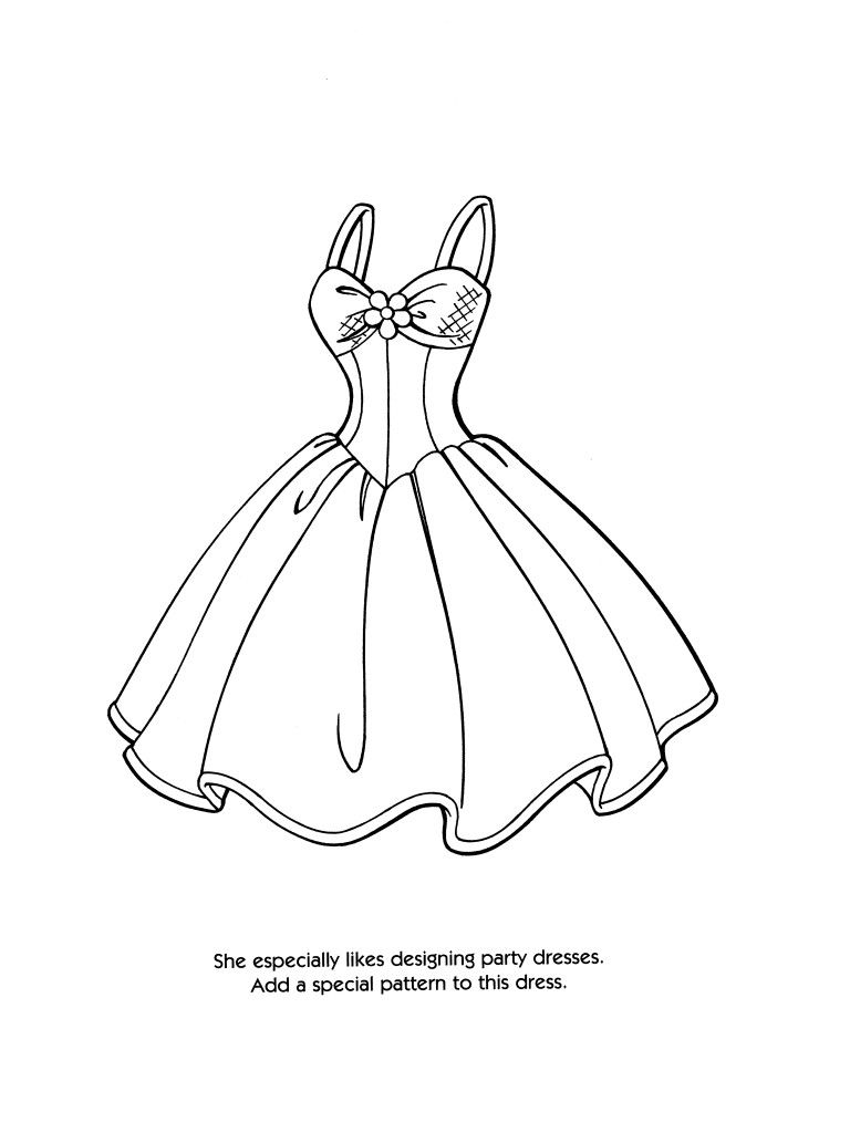 Fashion Design Coloring Pages Printable Coloration