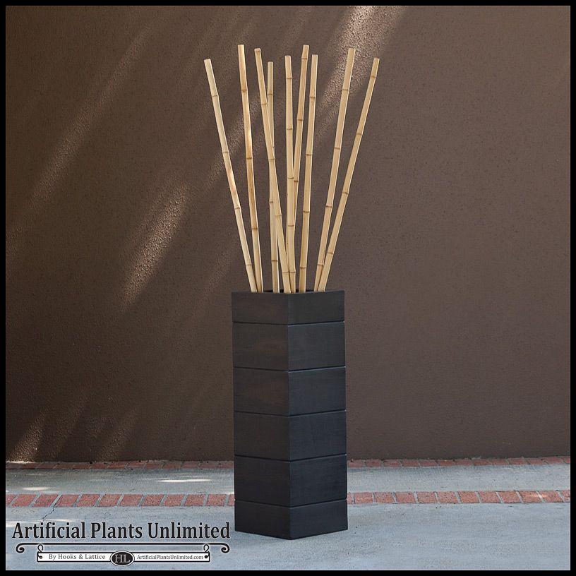 Green Bamboo Sticks Decor