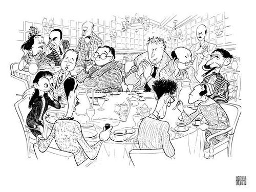 The Algonquin Round Table in caricature by Al Hirschfeld