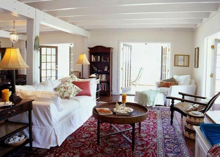 Image result for white couch red oriental rug also lovely home