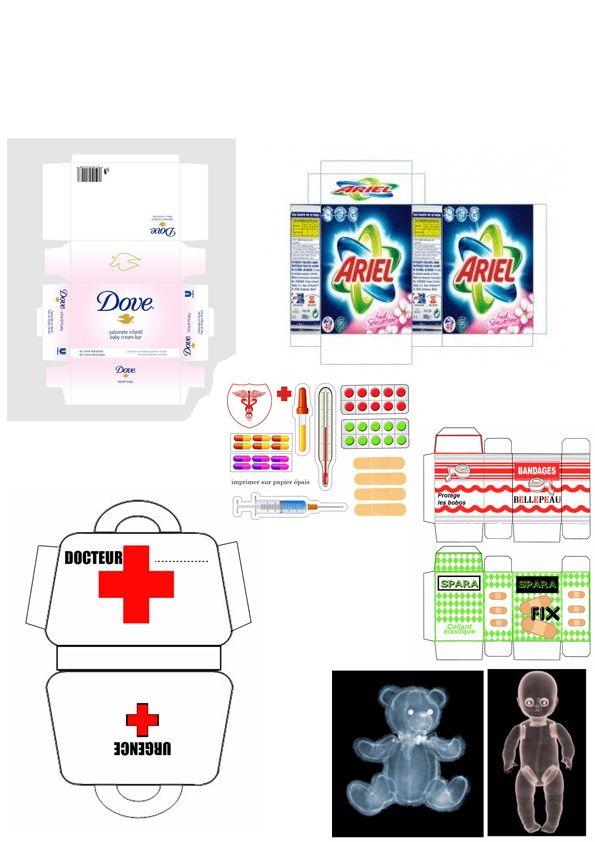 Objets Papier Imprimer Poupees Salle De Bains Poupes Et