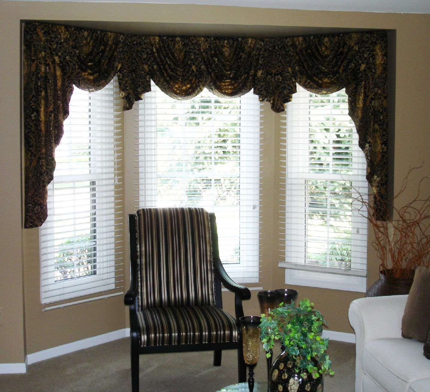 Swag Valances For Bay Windows