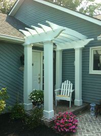 Pergola On Front of House | The front entryway, after ...