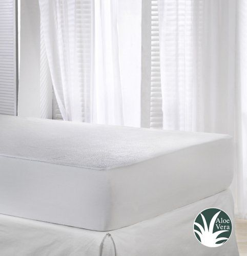 From 12 50 Velfont Terry Towelling Waterproof And Breathable Aloe Vera Mattress Protector Ed Double