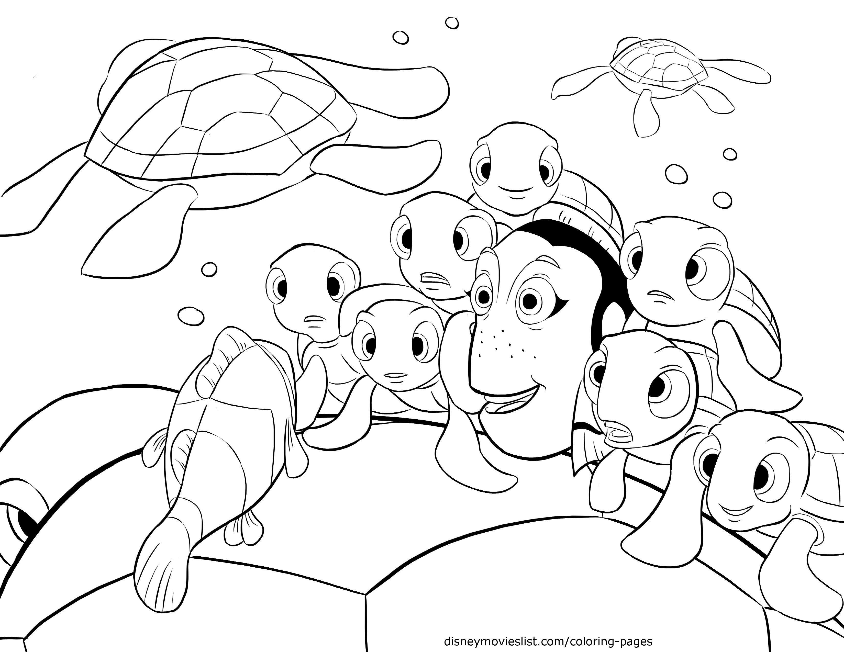 Disney's Finding Nemo Crush, Squirt Telling Stories