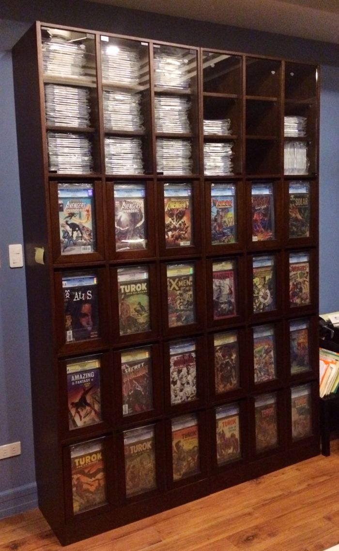 This is a full view of my custom CGC comic storage