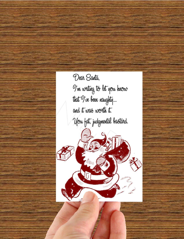 Dear Santa Funny Christmas Card 5 00 Via Etsy