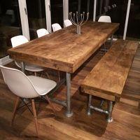 8FT Reclaimed Industrial Rustic Scaffold Pole Plank Board ...