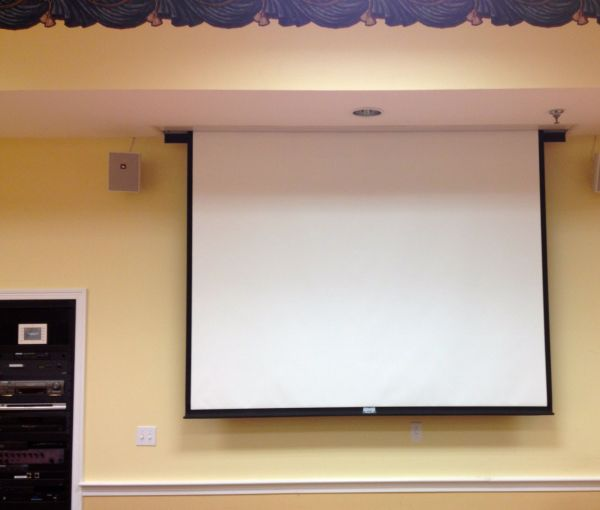 Retractable Ceiling Projector Screen