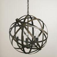 Metal Orb Chandelier | Orb chandelier and Chandeliers