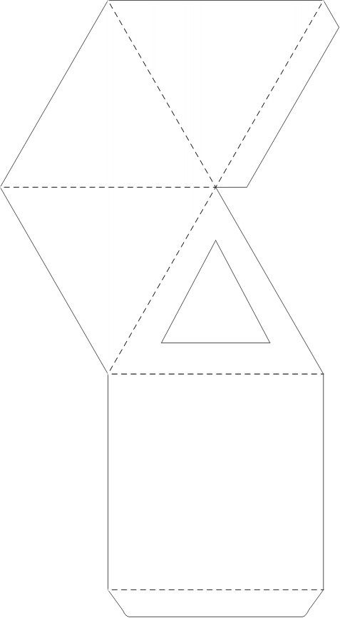pyramid box template for favor boxes! http://www