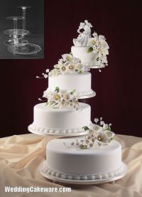 4 tier cascading wedding cake stand stands set | Wedding ...